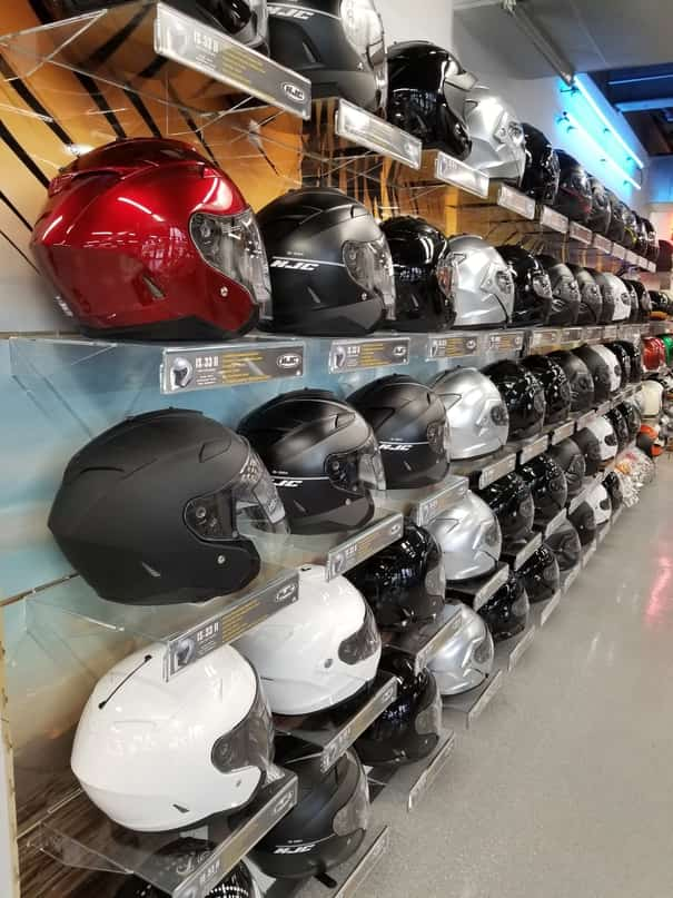 Helmets on Wall