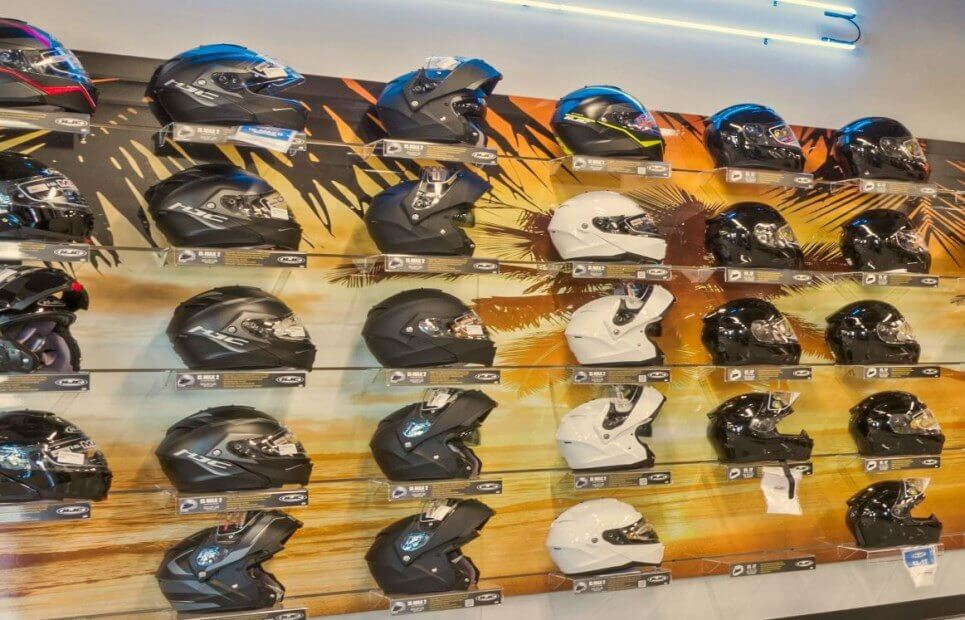 Helmets on Wall 3